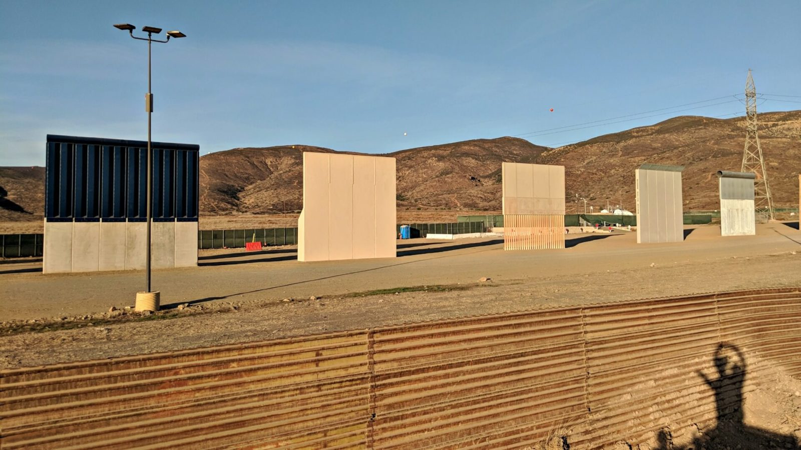 U.S.-Mexico border wall prototypes