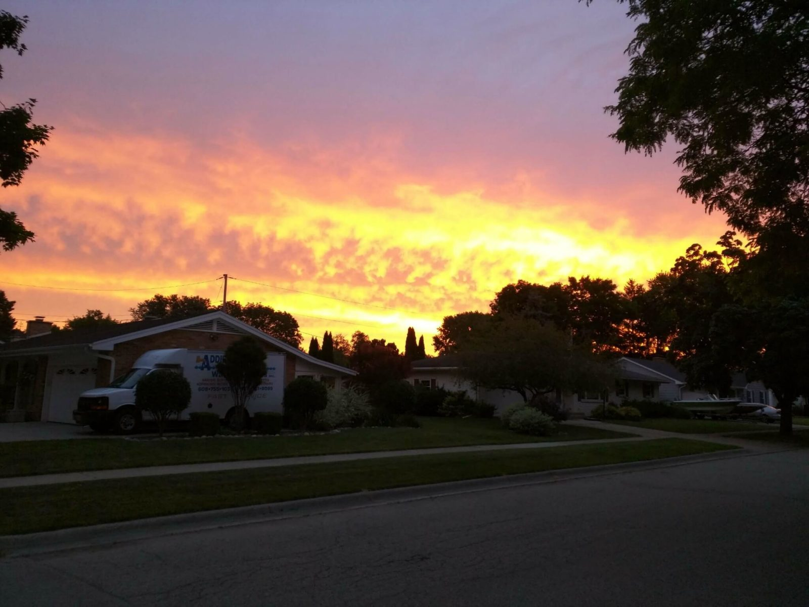 Sunrise in Janesville, Wisconsin on July 2, 2016